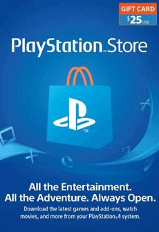 گیفت کارت 25 دلاری PlayStation