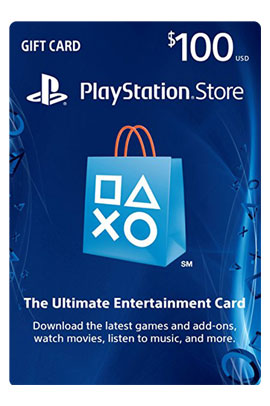 گیفت کارت 100 دلاری PlayStation