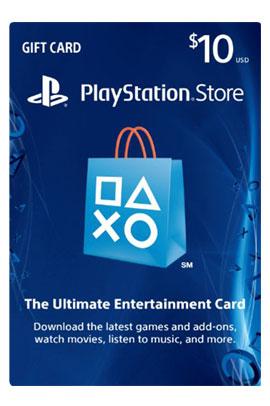 گیفت کارت 10 دلاری PlayStation