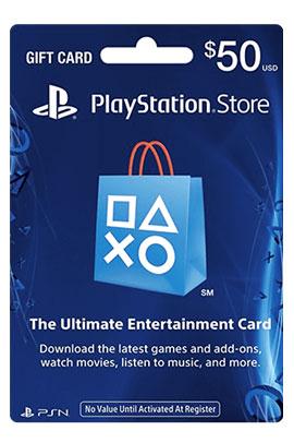 گیفت کارت 50 دلاری PlayStation