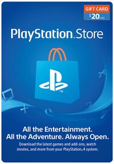 گیفت کارت 20 دلاری PlayStation