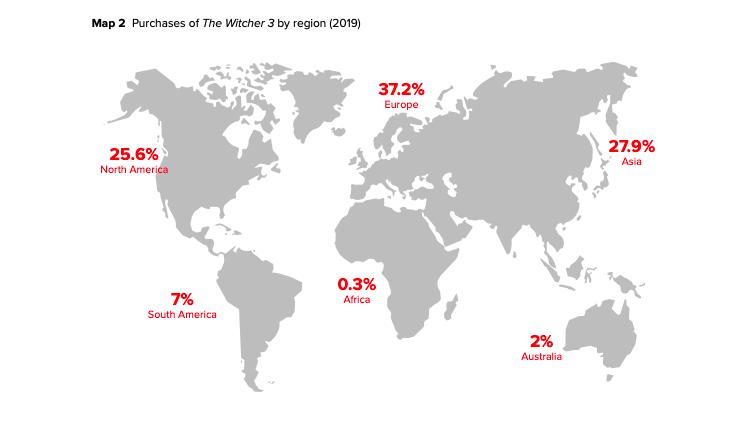 میزان فروش بازی ویچر 3