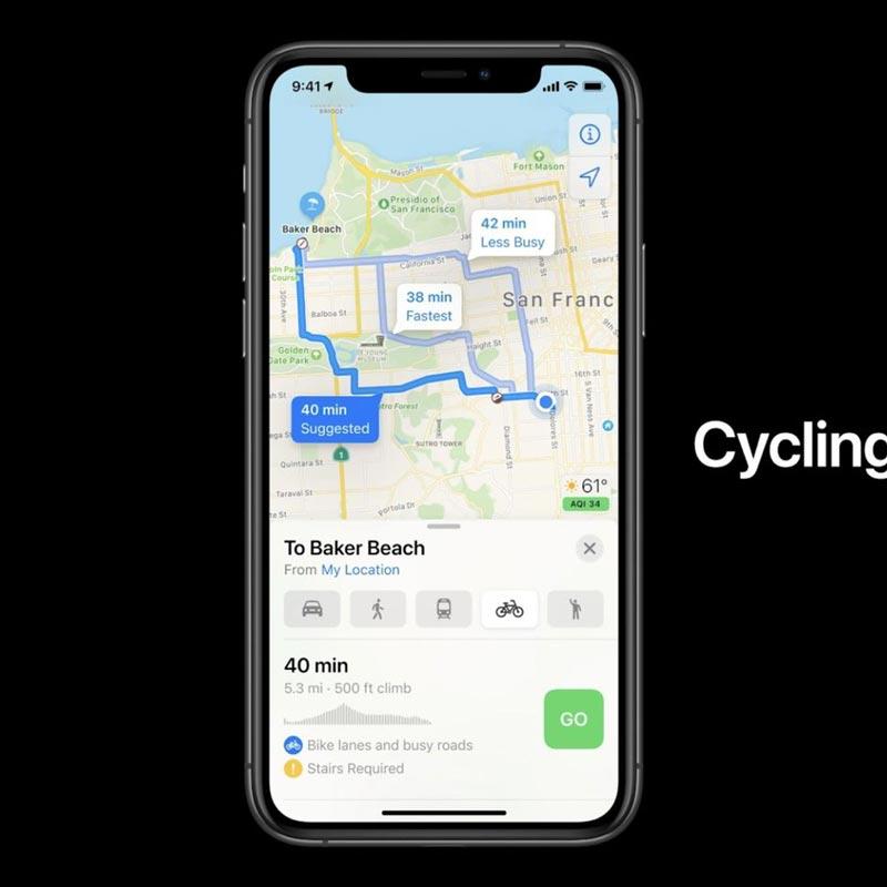 iOS apple maps