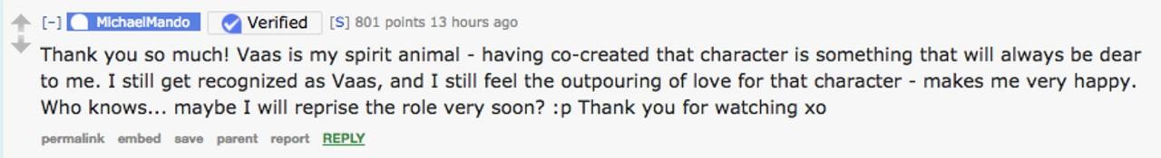 پاسخ مایکل ماندو به یکی از طرفداران سری فارکرای