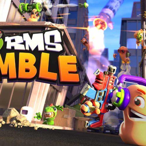 بازی بتل رویال Worms Rumble