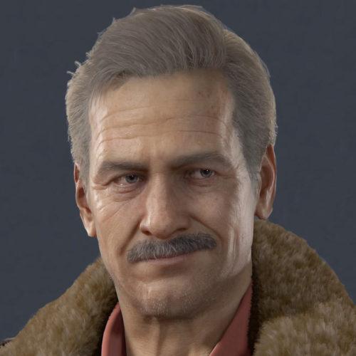 ظاهر ویکتور سالیوان در فیلم Uncharted