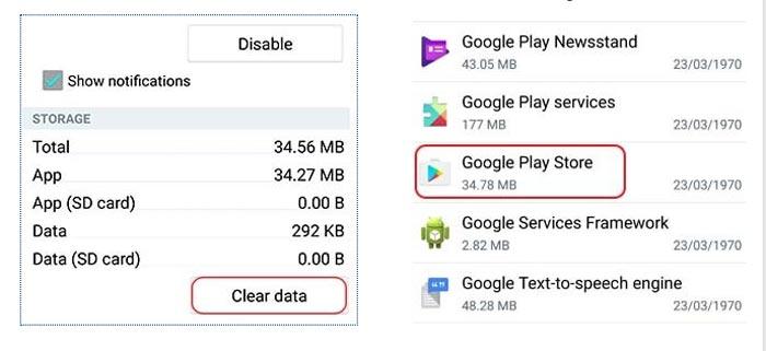 اپلیکیشن های غیرقابل دسترس
