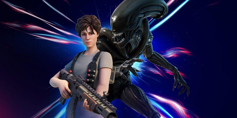 هیولای فیلم Alien فورتنایت