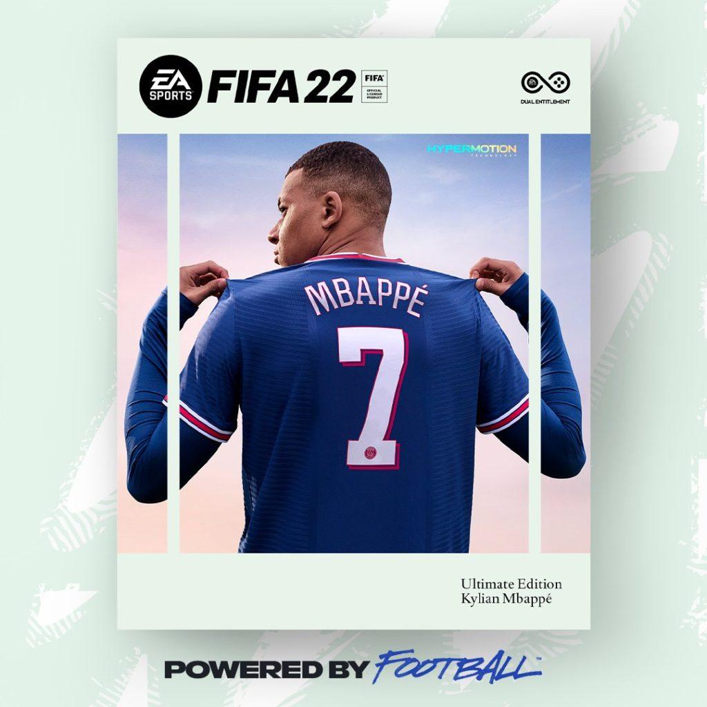کاور بازی FIFA 22 کیلیان امباپه
