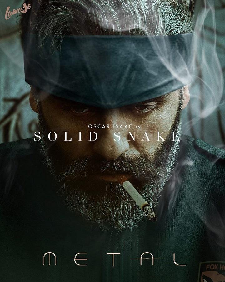 اسکار آیزاک در نقش سالید اسنیک در فیلم Metal Gear Solid