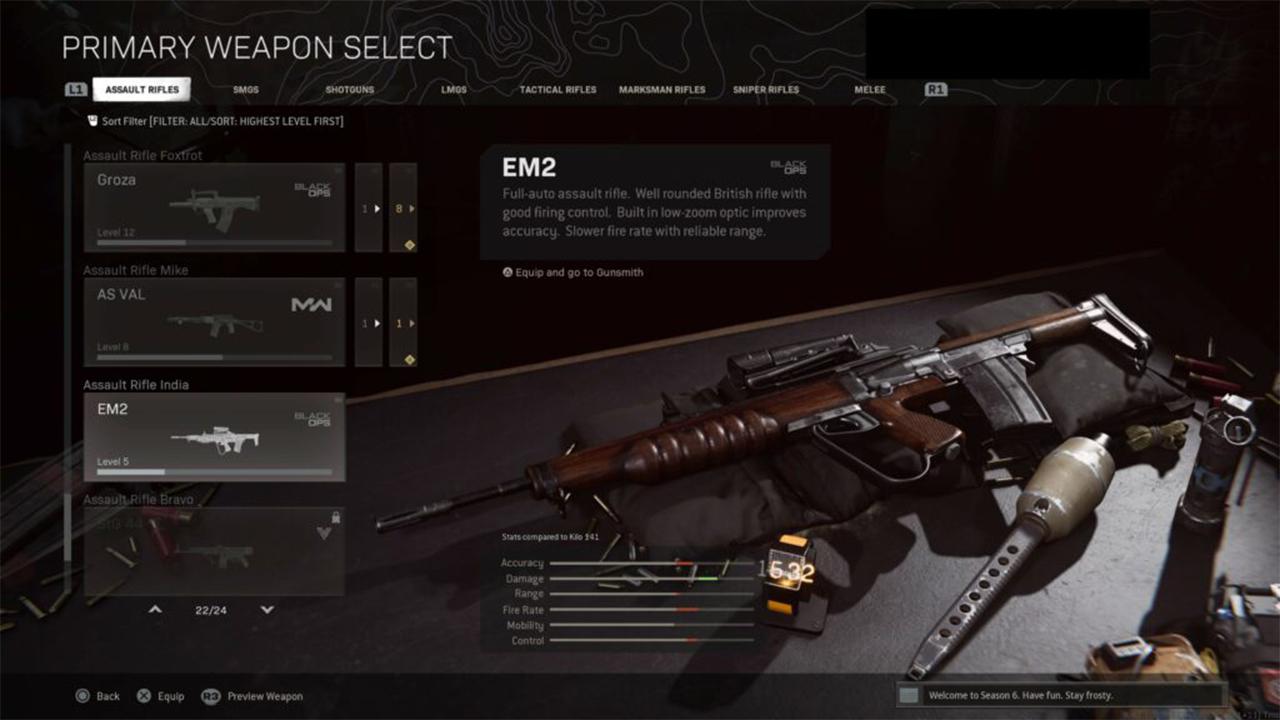 اسلحه EM2 در وارزون