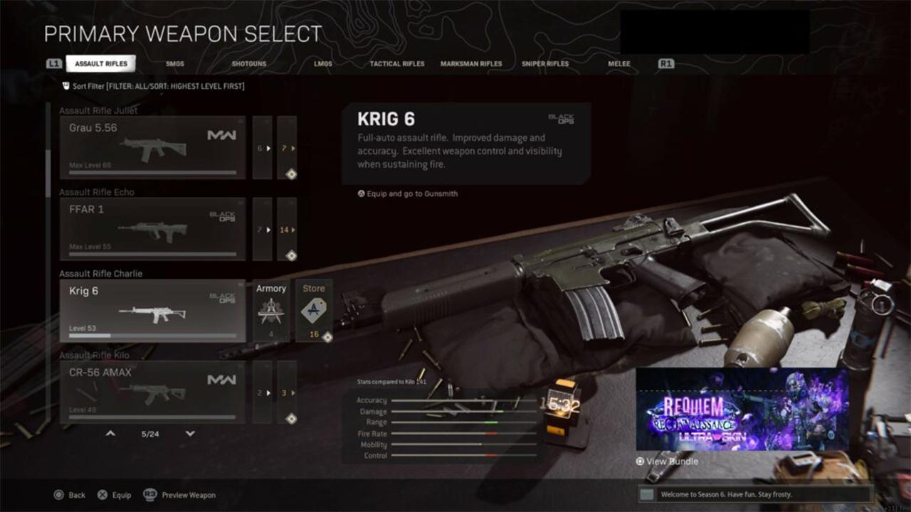 اسلحه Krig 6 در وارزون